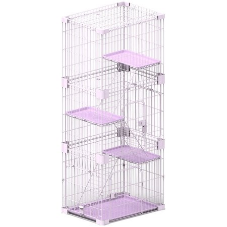 Petpals Wirehouse 3levels Pink 3 Levels Cat Cage Walmartcom