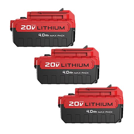 Replacement Battery For Porter Cable PCC601 Power Tools - PCC685L (4000mAh, 20v, Li-Ion) - 3 Pack