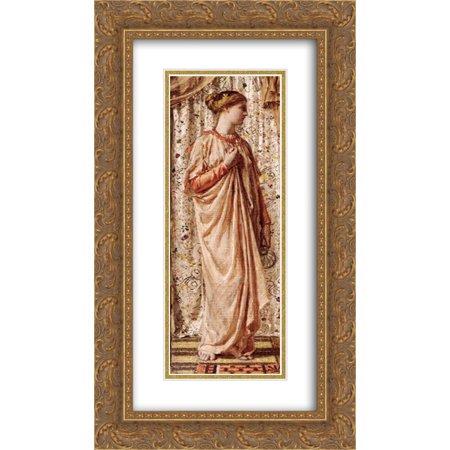 Albert Joseph Moore 2x Matted 14x24 Gold Ornate Framed Art Print 'Amber' ()