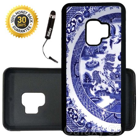 Custom Galaxy S9 Case (Vintage China Plate) Edge-to-Edge Rubber Black Cover Ultra Slim | Lightweight | Includes Stylus Pen by Innosub