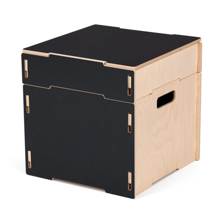 Cool Sprout Square Wooden Storage Ottoman Black Machost Co Dining Chair Design Ideas Machostcouk