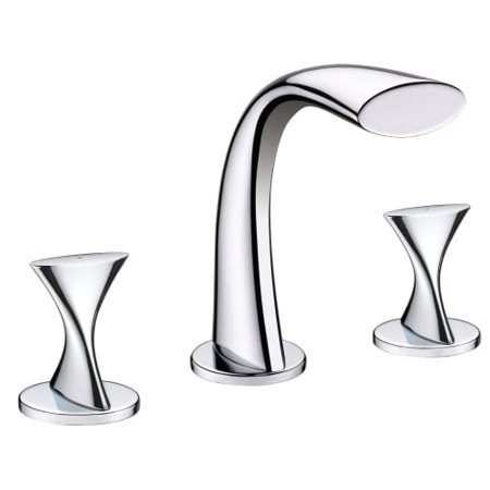 Ultra Faucets UF55510 2-Handle Chrome Twist Collection Lavatory Widespread Faucet