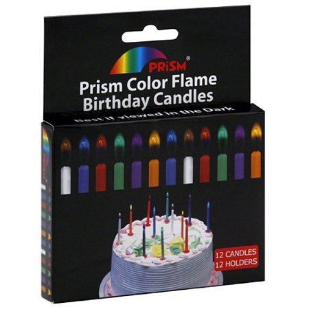 Prism Color Flame Birthday Candles With