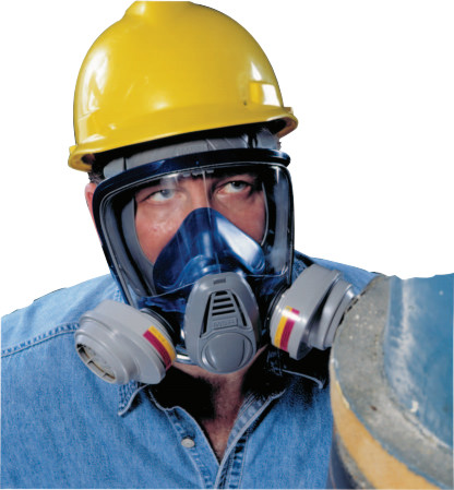 Advantage 3200 Full-Facepiece Respirator, Medium, Rubber Harn