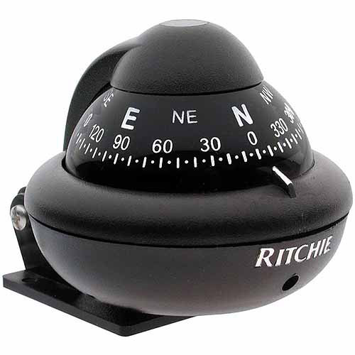 Ritchie X-10B-M RitchieSport Bracket Mount Compass, Black with Black Dial