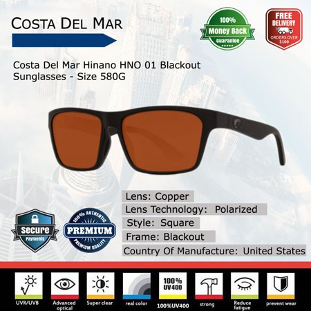 a98fb10fbb2 Costa Del Mar - Costa Del Mar Hinano Blackout Sunglasses - Walmart.com