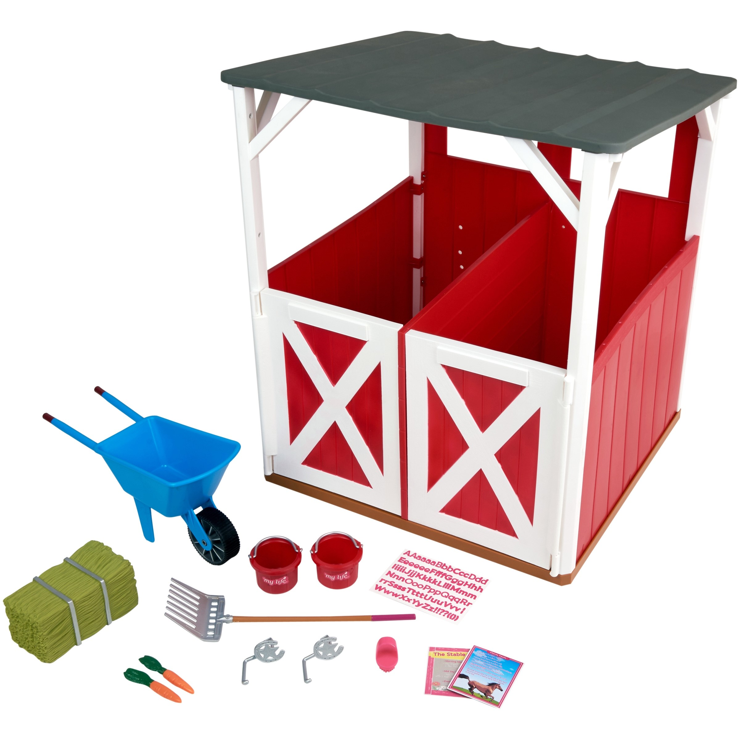 My Life As 2 Stall Stable Play Set Multiple Accessories Designed For Ages 3 And Up Walmart Com Walmart Com