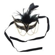 Tamire Costume Mask With Gold Chain: Purple/Gold