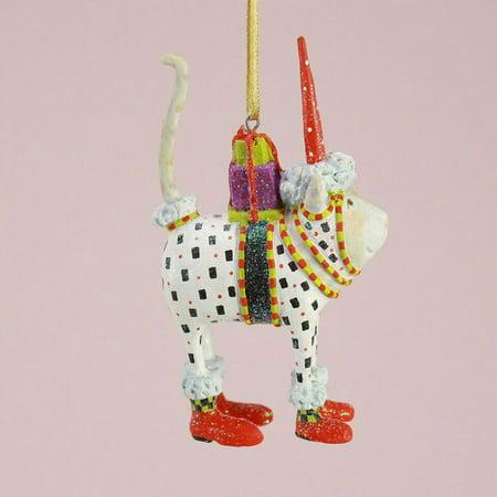 Patience Brewster Reindeer - Patience Brewster Mini Pat Santa Hat Cat Ornament 30585