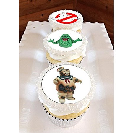 12 Ghostbusters Edible Frosting Image Cupcake Toppers - Ghostbusters Decorations