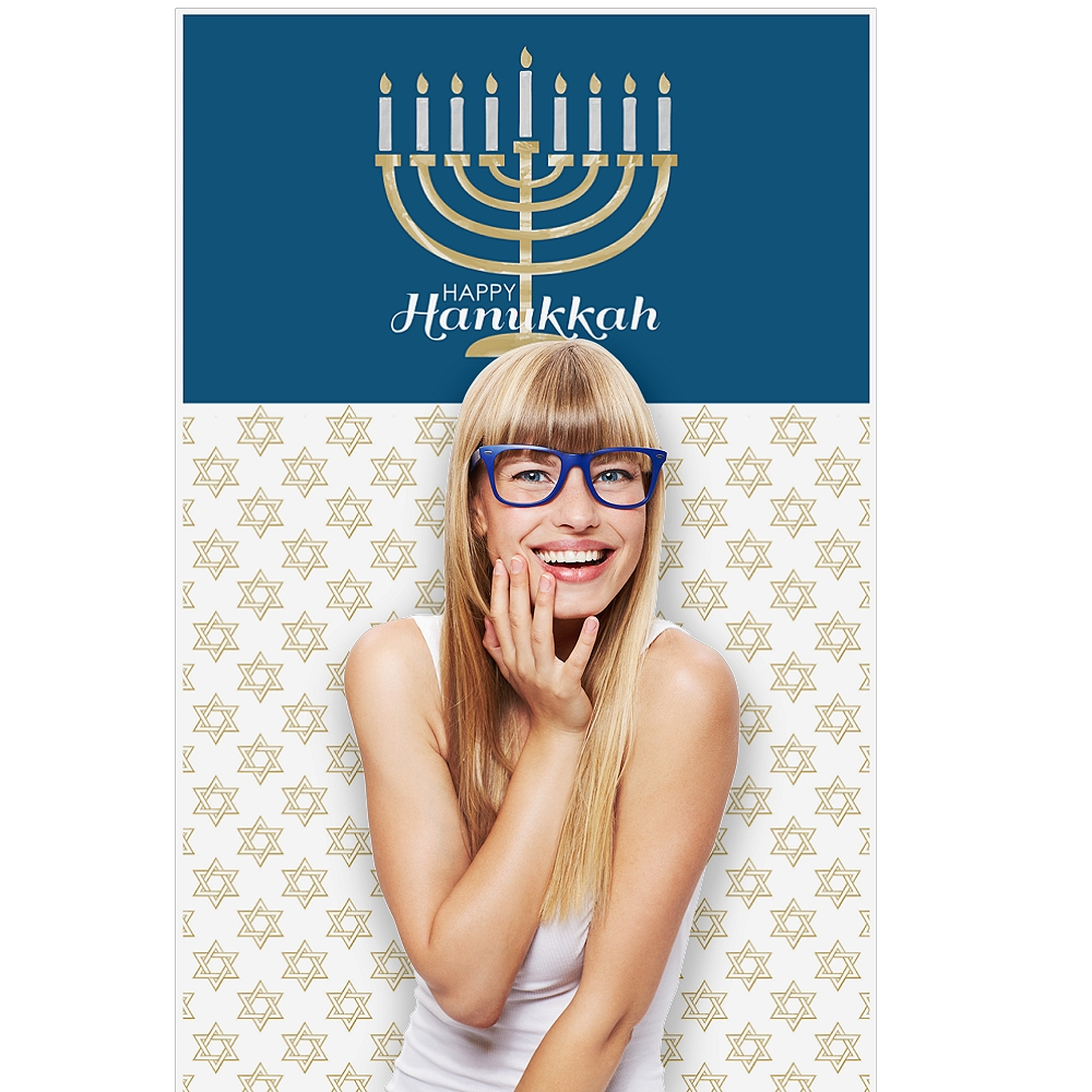 "Hanukkah - Chanukah Party Photo Booth Backdrop - 36"" x 60"""