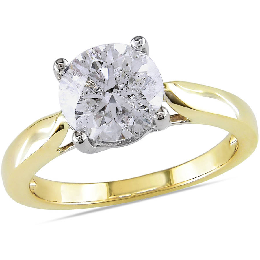 Miabella 2 Carat T.W. Certified Diamond 14kt Two-Tone Gold Solitaire Engagement Ring by Miabella