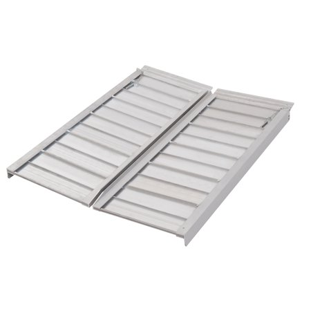 3' Wheelchair Ramp Foldable Portable Scooter Mobility Easy Access Carrier Ramp with Carrying Handle Aluminum Alloy - image 4 of 7