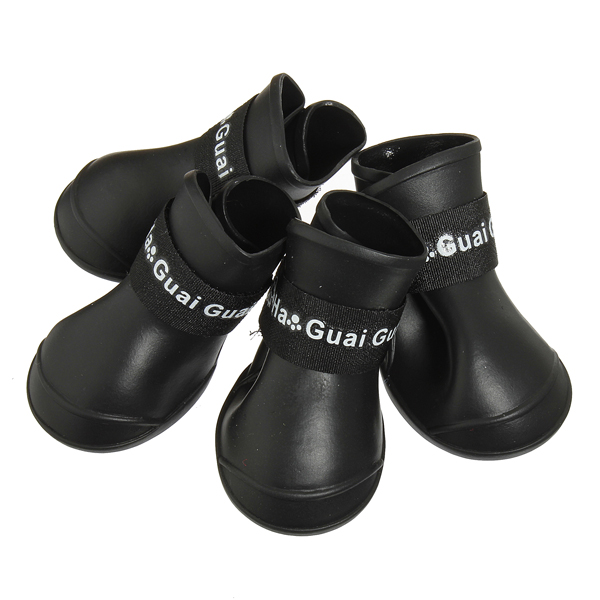 4Pcs Anti-Slip Dog Cat Rain Protective Boots Waterproof Puppy Pet Shoes Boots