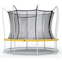 Vuly Lift Trampoline with Double-Sided Safety Pads, Extra-Tall Enclosure, and Self-Closing Door (Multiple Sizes Available)