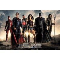 Justice League - DC Comics Movie Poster / Print (The Heroes - Superman, Batman, Wonder Woman, The Flash, Aquaman & Cyborg)