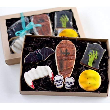 Half Dz. Creepy Midnight Halloween GIFT BOXED Cookie Set! Perfect Scary Treat for any Halloween party! for $<!---->