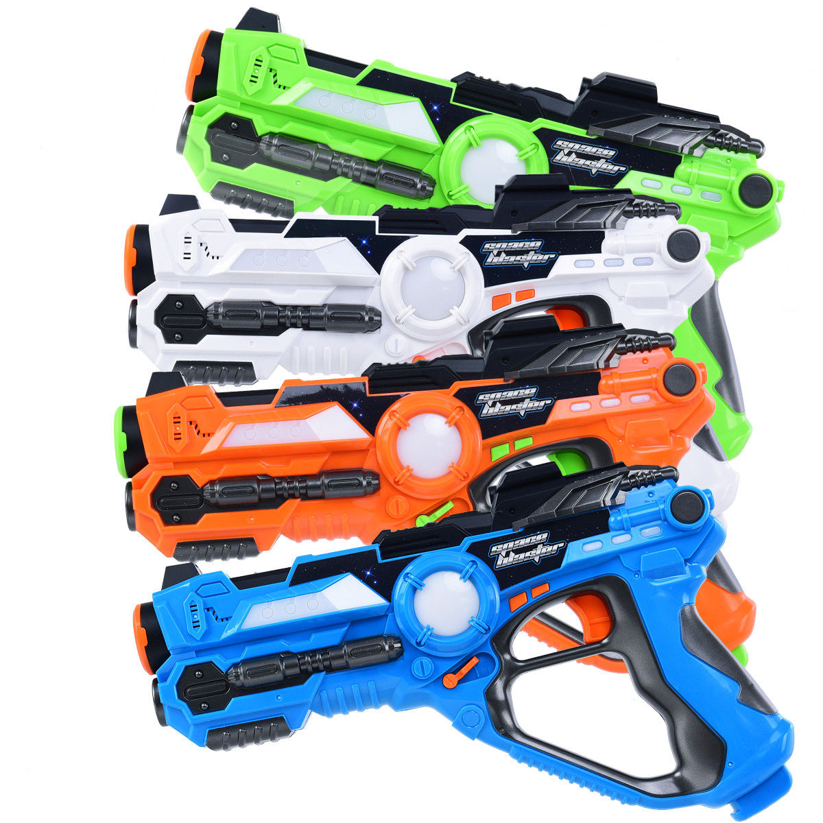 Costway Set of 4 Infrared Laser Tag Guns Indoor Outdoor 4 Players Team Group Activity