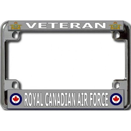 Veteran Royal Canadian Air Force Chrome Motorcycle License Plate Frame - image 1 of 1