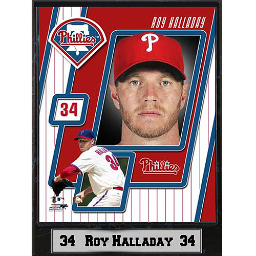 MLB Roy Halladay Photo Plaque, 9x12