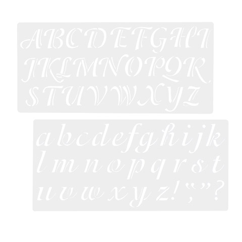 Alphabet and Number... FANTESI 26 Pieces 4 inches Lettering Stencil Set
