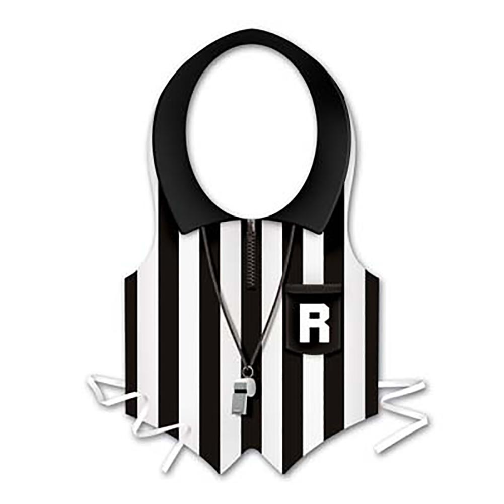 Beistle 66255 Pkgd Plastic Referee Vest - Pack of 24