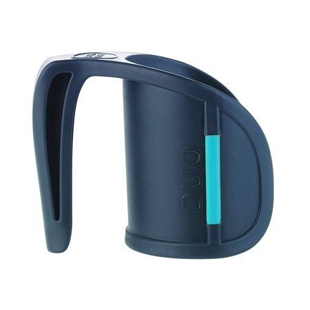 DUO Beverage Grip Handle for Mugs, Glasses and Bottles, Protects Hands from Hot Mug Surfaces, Blue, 0.5 Pound, PROVIDES A NICE SOLUTION FOR THOSE WHO NEED AN.., By HealthSmart
