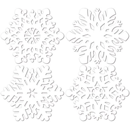 Snowflake Cutouts Christmas Holiday Party Decorations 14-14.5