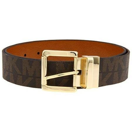- Michael Kors Women's Signature MK Logo Reversible Belt, Brown 553119C (XL)