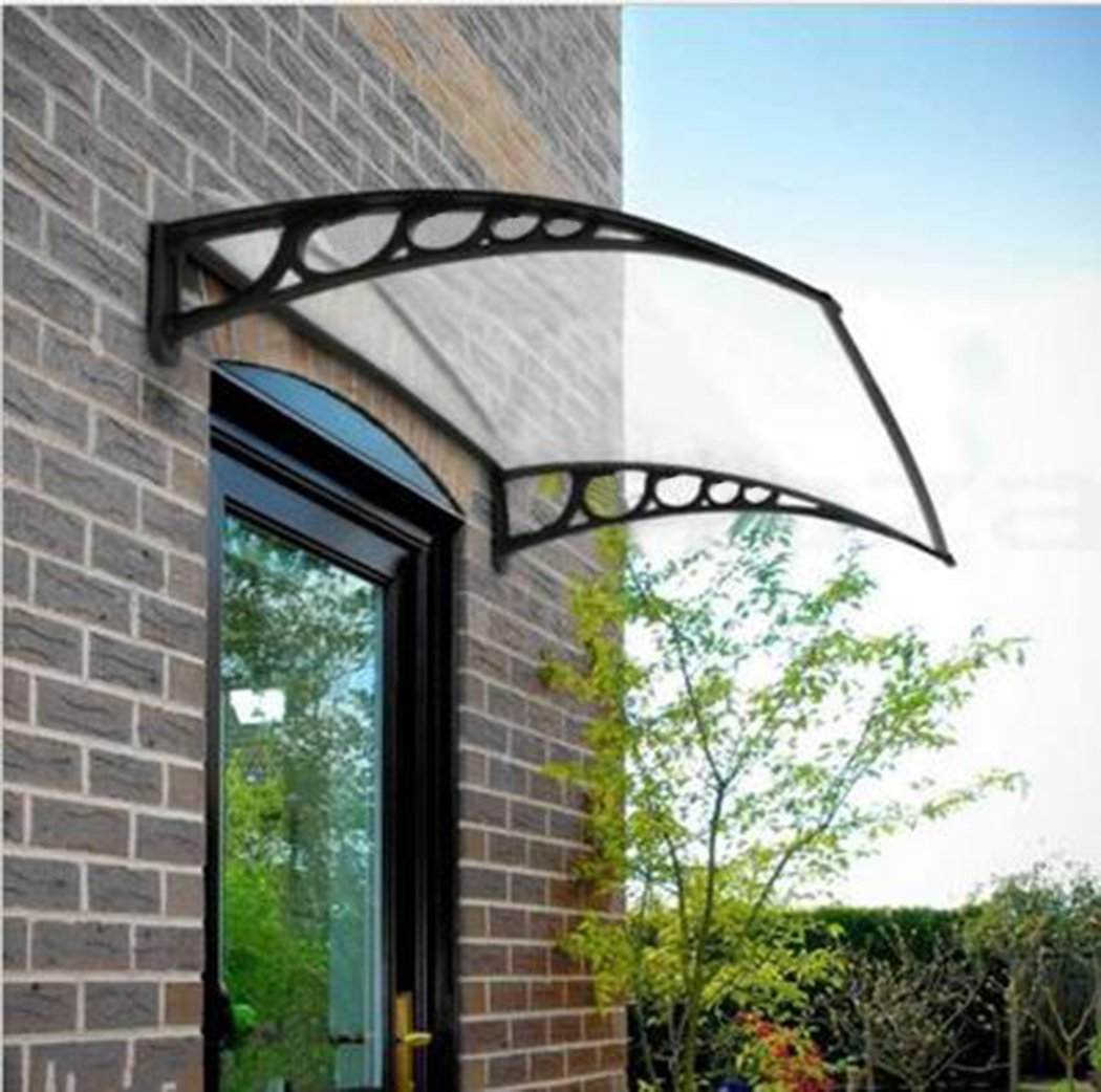 Zimtown Outdoor Front Door Window Awning Patio Eaves Canopy PC Cover UV  Rain Snow Protection,