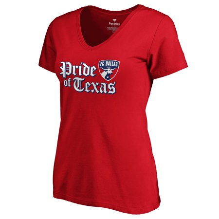FC Dallas Fanatics Branded Women's Hometown Collection Pride of Texas V-Neck T-Shirt - Red