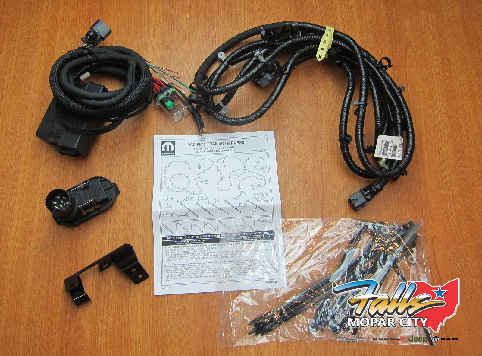 2017-2018 Chrysler Pacifica Trailer Tow Hitch Wiring Harness Kit MOPAR on mopar tachometer, mopar vacuum pump, mopar headlight, mopar spark plugs, mopar intake, mopar battery, mopar master cylinder, mopar steering column, mopar ignition system, mopar seats, mopar hood, mopar parts, mopar motor mounts, mopar mirrors, mopar air cleaner, mopar turn signal switch, mopar power steering pump, mopar engines, mopar oil filter, mopar wheels,