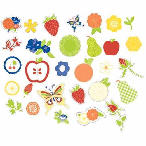 Hampton Art Sweet Tart Die-Cut Acetate Icons, 30/pkg, Glitter Accents