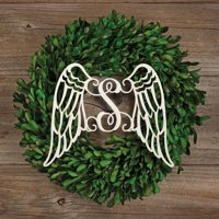 Personalized Antique White Wings Wood Plaque