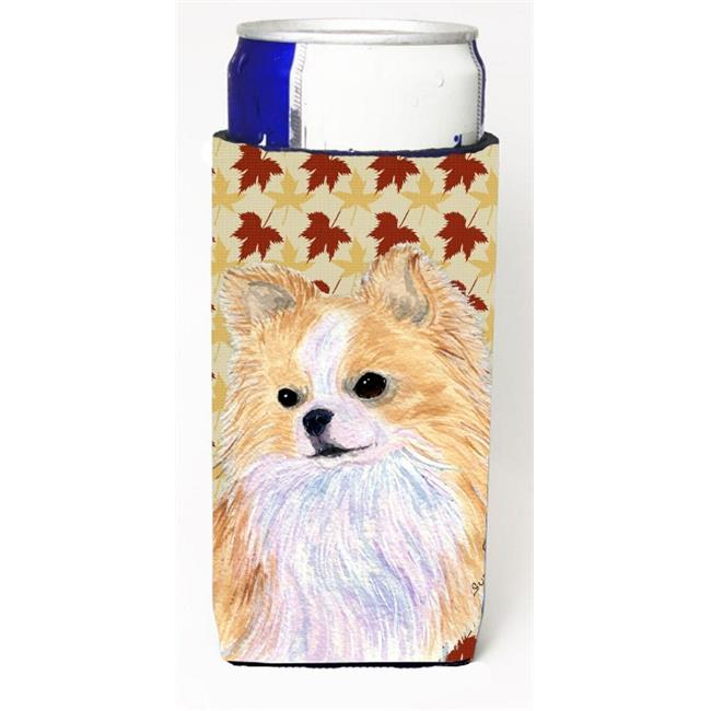 Carolines Treasures SS4383MUK Chihuahua Fall Leaves Portrait Michelob Ultra bottle sleeve for Slim Can - image 1 de 1