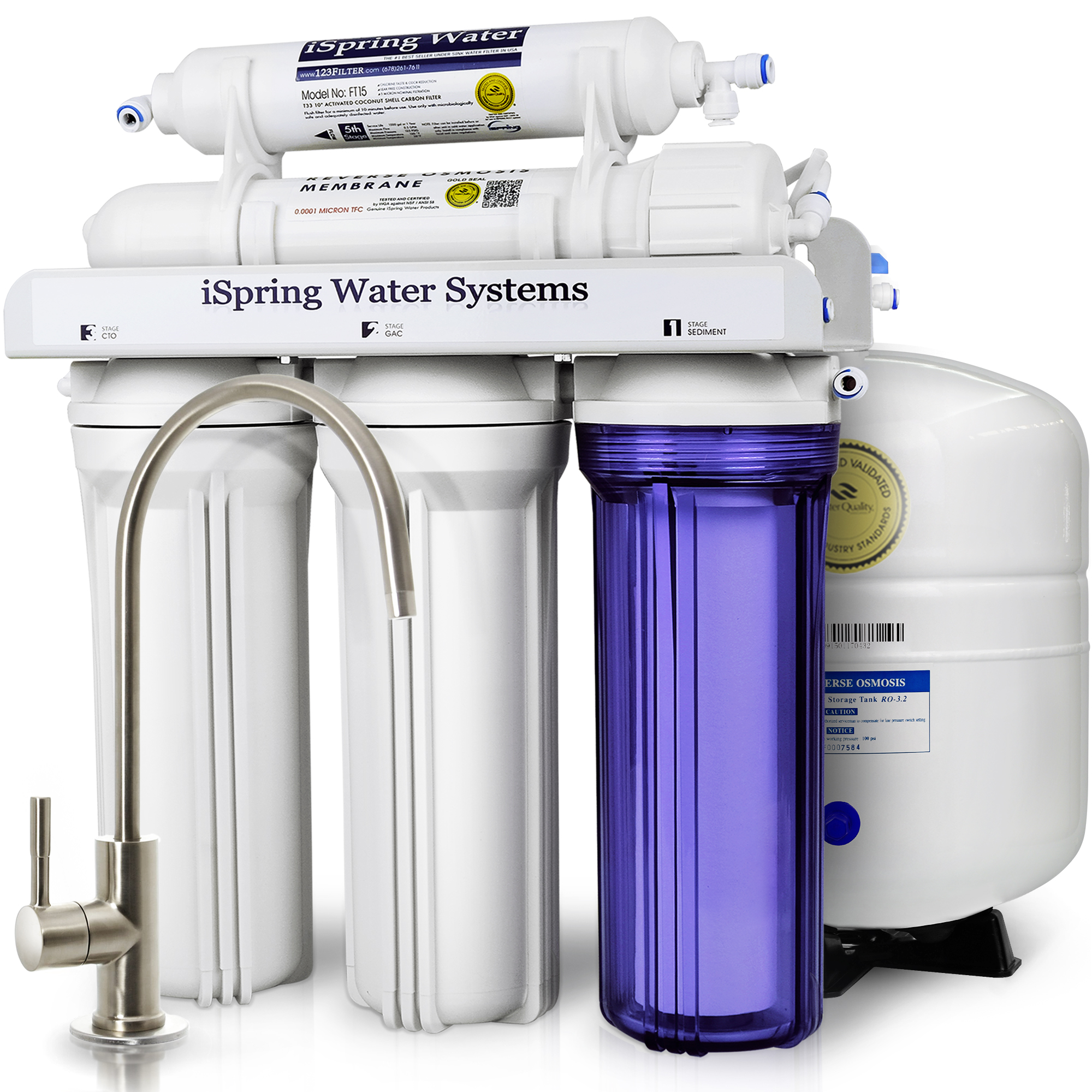 Water Filter System For Kitchen Sink Ispring reverse osmosis drinking water filter system 75gpd wqa ispring reverse osmosis drinking water filter system 75gpd wqa gold seal certified 5 stage rcc7 walmart workwithnaturefo