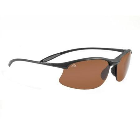 Serengeti Maestrale Sunglasses Satin, Black/Polarized Drivers, 7356