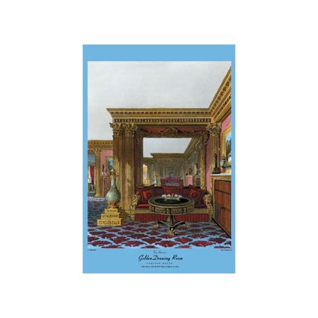 Golden Drawing Room - Carlton House Print (Unframed Paper Print -