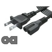 2 Prong Polarized 2 Slot Power Cord for Arris Router Modem; Vizio, Sharp Sanyo Emerson TV; Sony PlayStation 1 2 PS1 PS2; Bose Companion 3 5 Speaker Audio System AC Wall Cable
