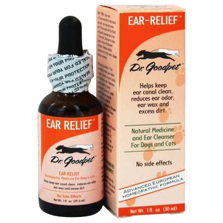 Dr  Goodpet   Ear Relief Homeopathic Formula For Dogs   Cats   1 Oz