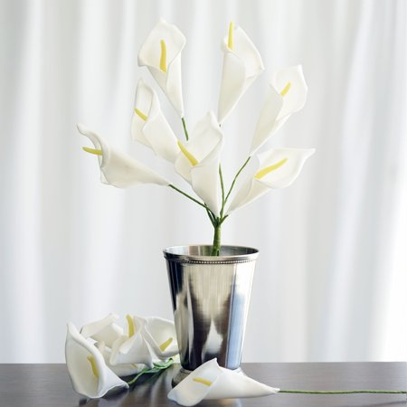 Classic White Lily - Efavormart 42 Calla Lily Artificial Wedding Flowers for DIY Wedding Bouquets Centerpieces Arrangements Party Home Decoration Supply