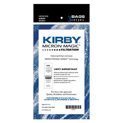 Kirby G4 and G5 Micron Magic Vacuum Bags 3 pk.