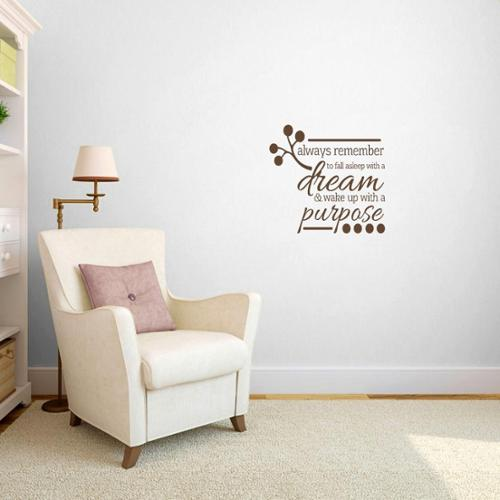 Sweetums Wake up with a Purpose' Bedroom Wall Decal (2' x 1'9)