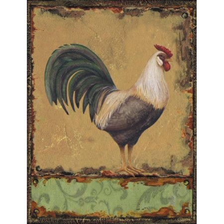 Barnyard Designs Black And White Rooster Retro Vintage Tin Bar Sign Country Home Decor 10  X 13