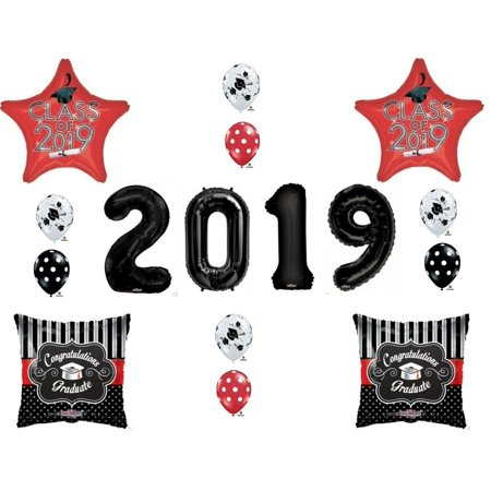 RED & BLACK CLASS OF 2019 Graduation Party Balloons Decoration Supplies](Class Party)