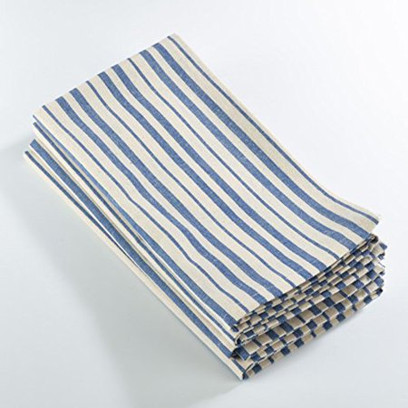 Dauphine Collection Striped Design Dinner Napkin - 20-inch Square - Set of 4
