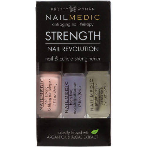 Pretty Woman Nailmedic Nail & Cuticle Strengthener Set, 3 pc