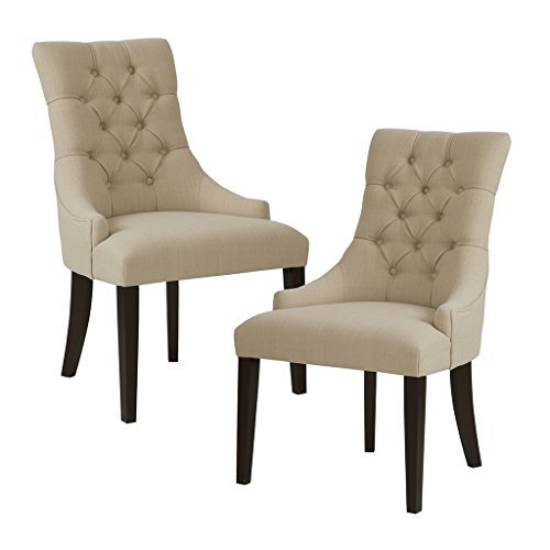 Madison Park Corbel Tufted Back Dining Chair Set Of 2 Cream W232xD267xH3838