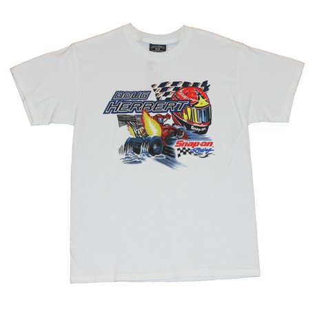 Snap On Racing Doug Herbert Mens T-Shirt  - NHRA Helmet Image Drag Racing on W (Nhra Clothing)