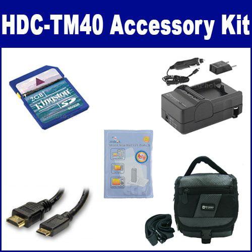Panasonic HDC-TM40 Camcorder Accessory Kit includes: SDM-...
